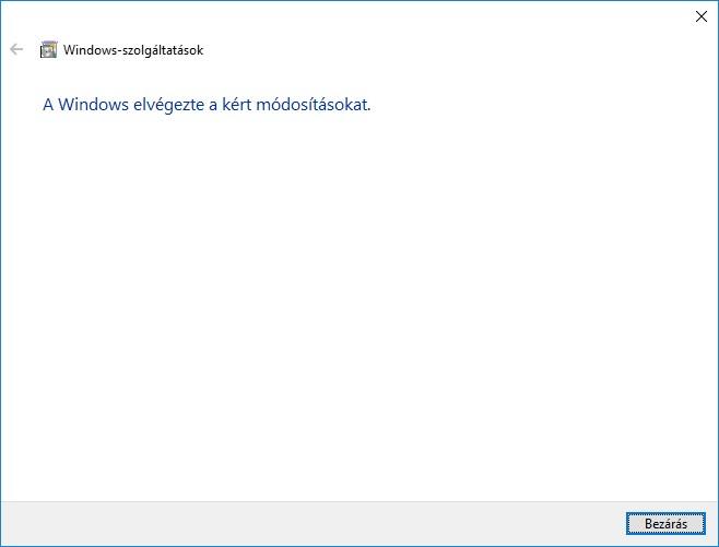directplay telepítése windows 10 bezárás